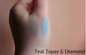 Тени Teal topaz & diamonds